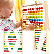 Multicolor Beads Design Educational Wooden Toy Children Counting Number Early Learning Toy For Kid Math Study Gift