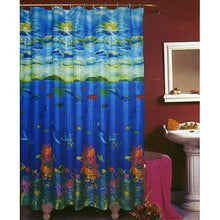 BigKitchen Fish Coral Dolphin Ocean Fabric Shower Curtain with Hooks