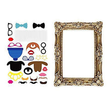 BESTOYARD Photo Booth Props Picture Frame Photo Props Funny Faces Party for Wedding Birthday Baby Shower Graduation 24pcs
