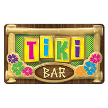 Beistle 54619 3-D Plastic Tiki Bar Sign (24 Pack), 12.5