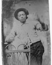 1870 photo Three-quarter length portrait of African American man, standing gr a2