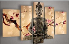100% Hand-painted Best-selling Quality Goods Free Shipping Wood Framed on the Back Flower At the End of Figure of Buddha High Q. Wall Decor Landscape Oil Painting on Canvas 4pcs/set Mixorde