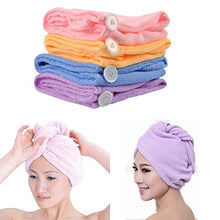 Super Absorbent Microfiber Hair Drying Towel Shaped Turbans 4-Pack