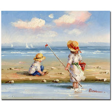 At the Beach III by Master's Art, 26x32-Inch Canvas Wall Art