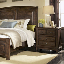 Coaster Home Furnishings Laughton 2 Drawer Nightstand, Rustic Brown