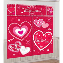 amscan Blushing Valentine's Day Scene Setters Wall Party Decorating Kit, Multicolor