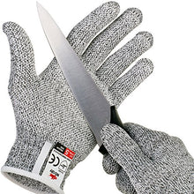 NoCry Cut Resistant Gloves with Grip Dots - High Performance Level 5 Protection, Food Grade. Size La
