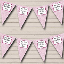 Pretty Pink Summer Floral Personalized Carnival Fete Street Party Bunting Banner