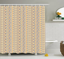 Ambesonne Striped Shower Curtain, Prehistoric Stripes Form Indie Hunting Aboriginal Wild Art, Cloth