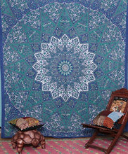 Labhanshi Kayso Kaleidoscopic Star Tapestry Intricate Floral Design Indian Bedspread