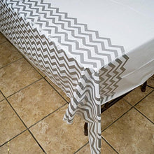 Chevron Plastic Tablecloth, 108