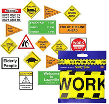 Beistle Retirement Party Set with No Work Zone Tape and Retirement Cutout Signs