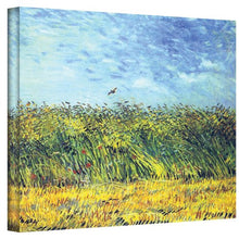 ArtWall Green Wheat Fields by Vincent Van Gogh Gallery Wrapped Canvas, 14 by 18-Inch
