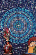 Blue Camle Mandala Tapestry ; Indian Hippie Wall Hanging ; Bohemian Twin Wall