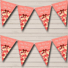 Yellow Coral Floral Vintage Shabby Chic Personalized Wedding Bunting Banner