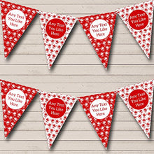 Red White Presents Personalized Christmas Decoration Bunting Banner Garland