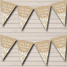 Pretty Burlap Lace Personalized Retirement Party Bunting Banner Garland