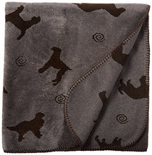Cpc Plush Tossed Dog Throw for Pets, 30 by 60-Inch, Grey
