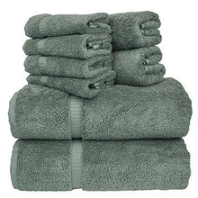 Chakir Turkish Linens Dobby Border Luxury Hotel & Spa Turkish Cotton Bundle Total 8-Piece Set, 2 Bath 27
