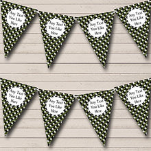 Green Camouflage Army Soldier Personalized Birthday Party Bunting Banner Garland