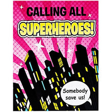 BirthdayExpress Superhero Girl Party Supplies - Invitations