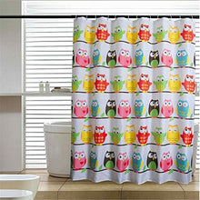 LESOLEIL Shower Curtain Polyester Bathroom Waterproof 7278 Inch with Hooks (Cartoon Series: Owl)