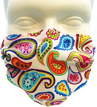 Breathe Healthy Dust, Allergy & Flu Mask - Comfortable, Washable Protection from Dust, Pollen, Allergens, Cold & Flu Germs; Asthma Mask; Paisley Punch Child (Small Adult/Youth)