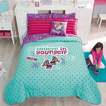 Green and Purple 3 Piece Girls Skate Reversible Comforter Set