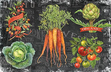 Counterart Paper Placemat, Chalkboard Veggies, 24-Pack