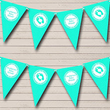 Polkadot Mint Green Personalized Baby Shower Bunting Banner Garland