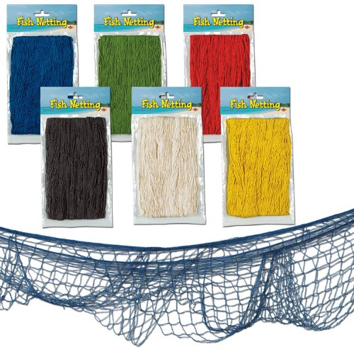 Beistle 50301-A 12-Pack Fish Netting, 4-Feet by 12-Feet