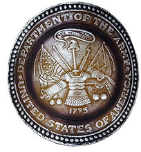Patriotic US Army Seal Nightlight - Translucent Gold Resin with Silver Lettering