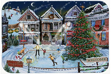 Caroline's Treasures PTW2005JCMT Christmas Family Skate Night Kitchen or Bath Mat, 24 by 36