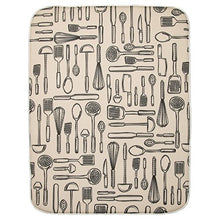 Inter Design I Dry Fabric Extra Large Kitchen Countertop Dish Drying Mat, Absorbs Moisture, 24
