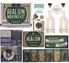 Real Homemade Gin Kit & Stainless Steel Personalized Flask, For Making Delicious Martinis, Gin And T