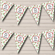 Cream Strawberry Personalized Wedding Anniversary Party Bunting Banner Garland