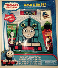 Thomas Train and Friends Wash & Go Bath Set - Whistling Watermelon Scented - Wash Mitt, Hair Gel, Bo
