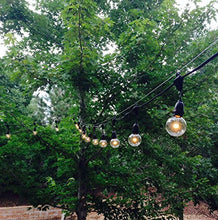 S14 Edison Outdoor String Lights   Commercial Grade Hanging String Lights   Outdoor Weatherproof Tig