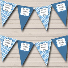 Blue Cross Personalized Christening Baptism Bunting Banner Garland