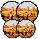 Image of Reston Lloyd Electric Stove Burner Covers, Set Of 4, Rooster Pattern