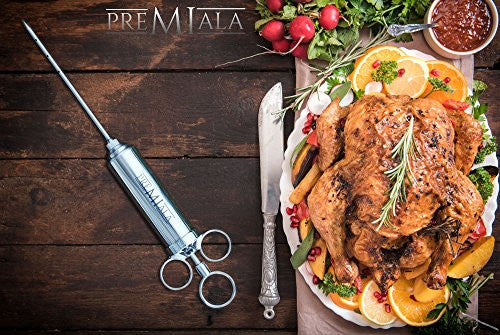 Premiala Awesome Meat Injector   The Original Turkey Injector Creates The Juiciest Turkey And Bbq Ev