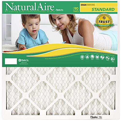 Natural Aire Standard Air Filter, Merv 8, 14 X 14 X 1 Inch, 6 Pack