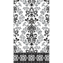 Black, Silver and White Ornate Damask ECO Guest Paper Towels | 16 Ct. | 8