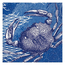 Caskata Studio 20-Count 3-Ply Paper Cocktail Napkins, Blue Crab