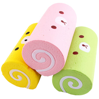 Random Color Squishy Cake Roll Kawaii