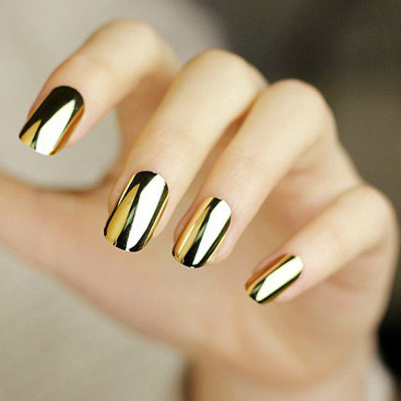 Nail Art Stickers 2pcs Gold Or Silver Its My Style
