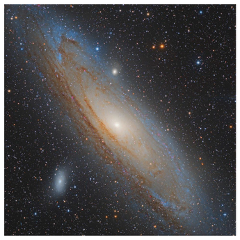 Andromeda Space Canvas