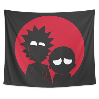 Rick and Morty Minimalist Tapestry