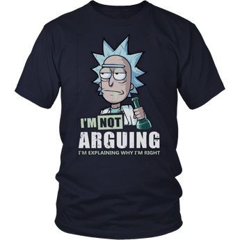 I'm Not Arguin Rick And Morty Unisex Shirt Hoodie