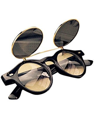 Steampunk Goggles Vintage Flip Up Sunglasses